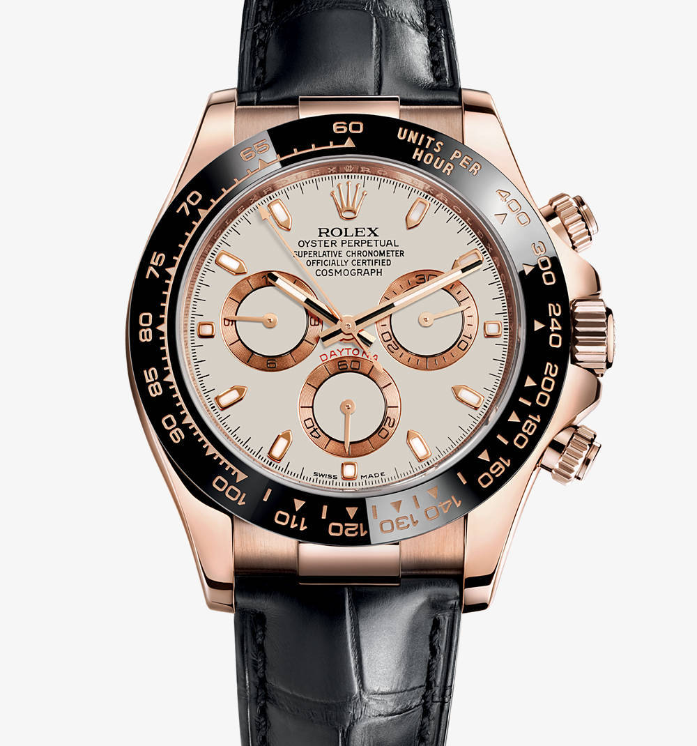 Replica Rolex Cosmograph Daytona Watch: 18 ct oro Everose - M116515LN-0003 [80da]